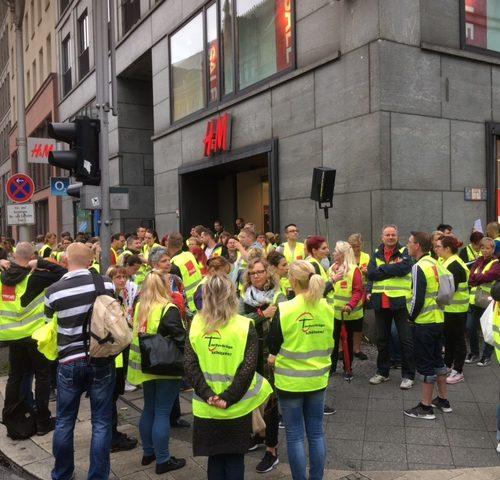 Solidarität mit den Betriebsräten bei H&M