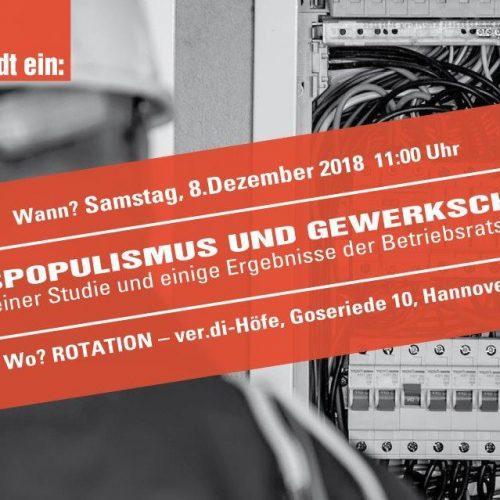 Veranstaltungshinweis - Betrieb und Gewerkschaft Niedersachsen lädt ein