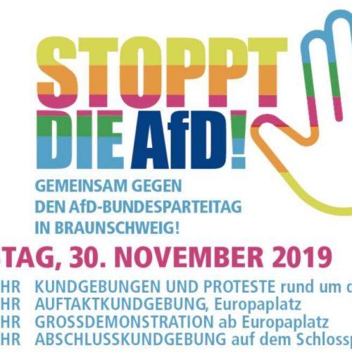 Gemeinsam gegen den AFD-Bundesparteitag in Braunschweig